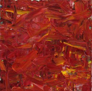 Rot, Öl auf MDF, 27 x 27, 2020